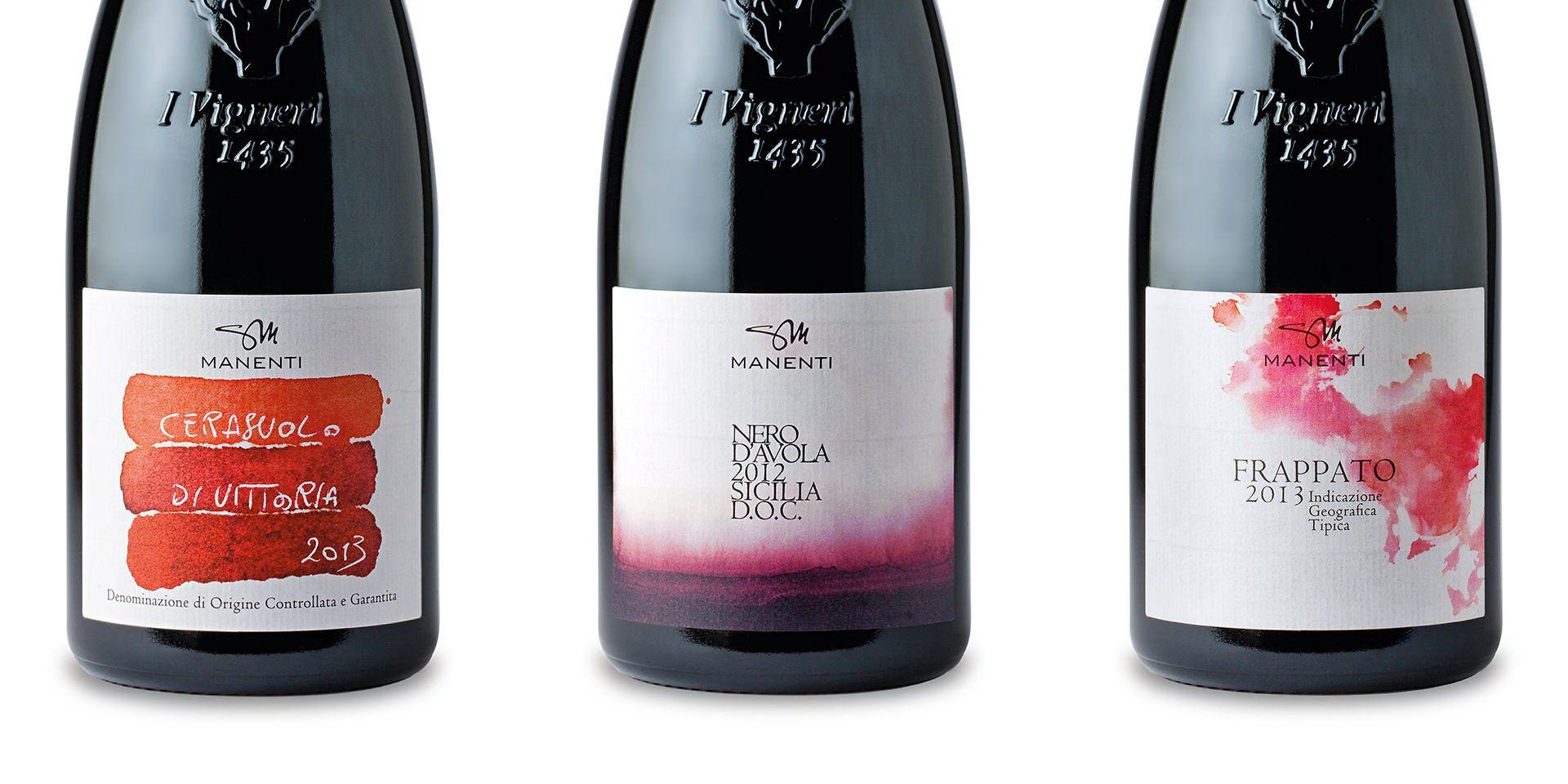 Molto Studio grafico per etichette vino di azienda vitivinicola Manenti CL68